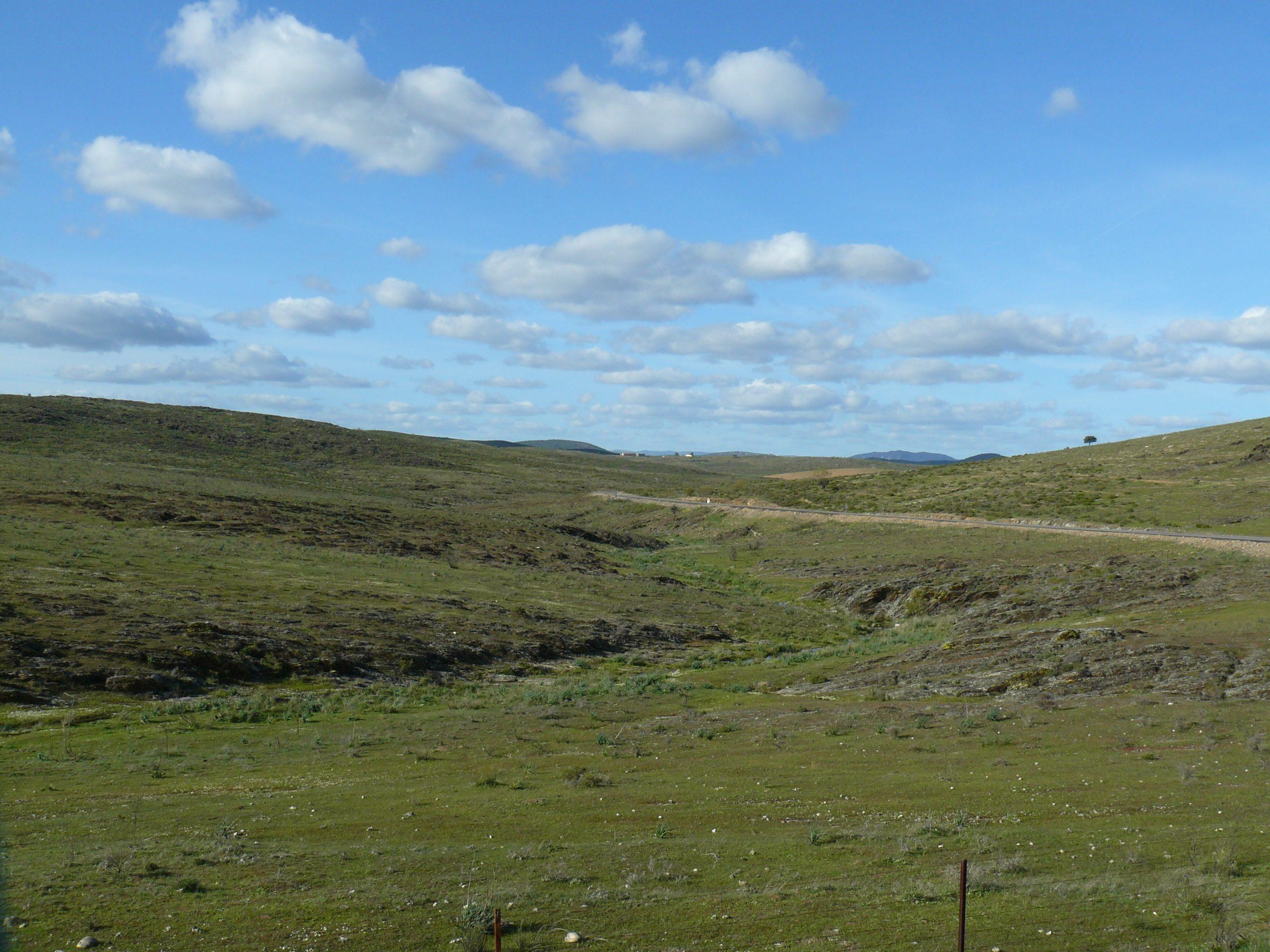 Landschap ten zuiden van Cordoba