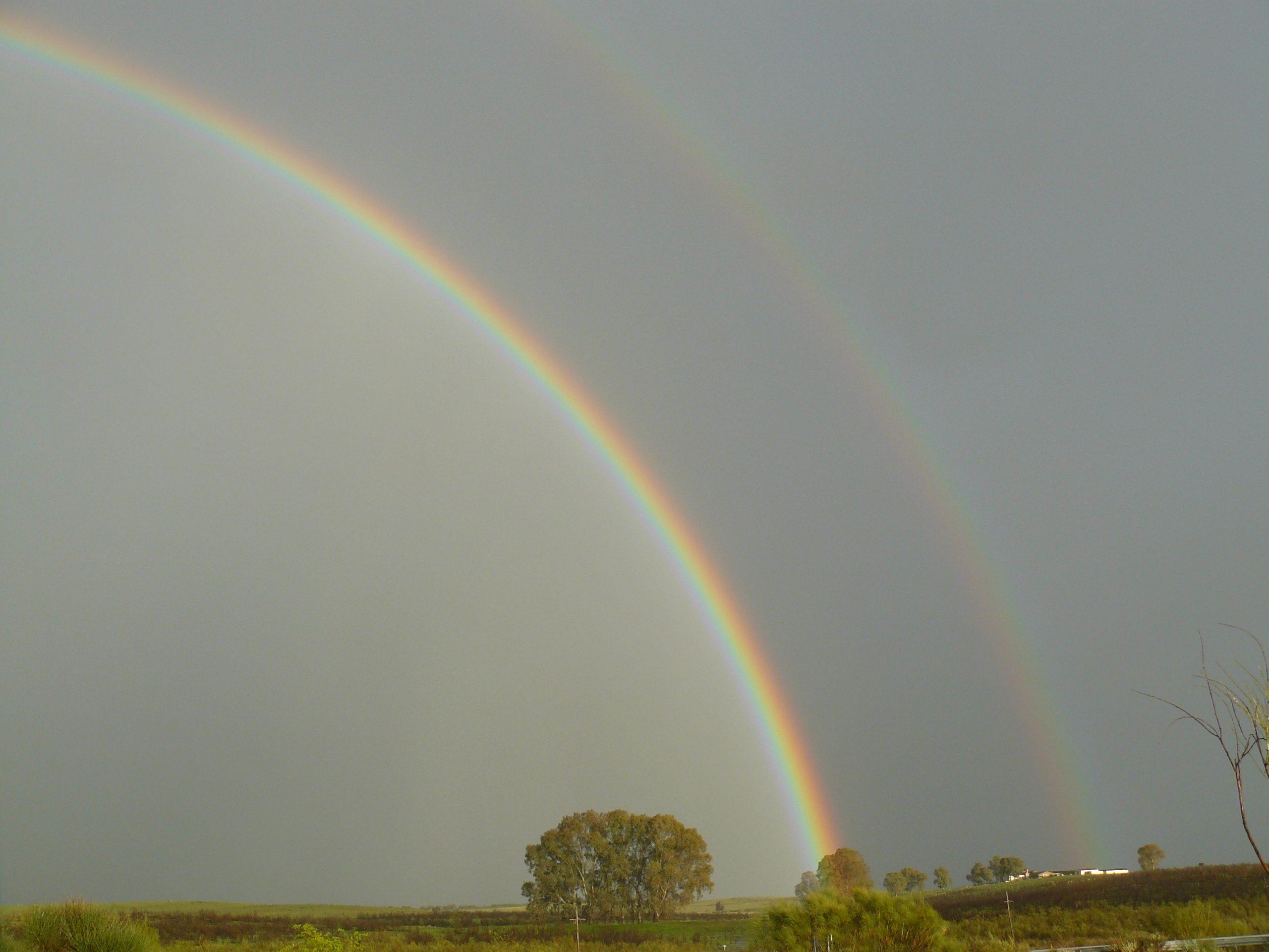 Dubbele regenboog nabij Talavan