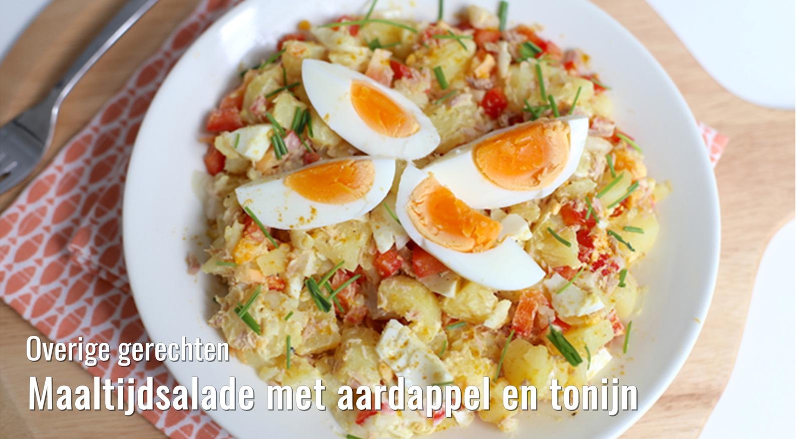 Maaltijdsalade met aardappelen en tonijn